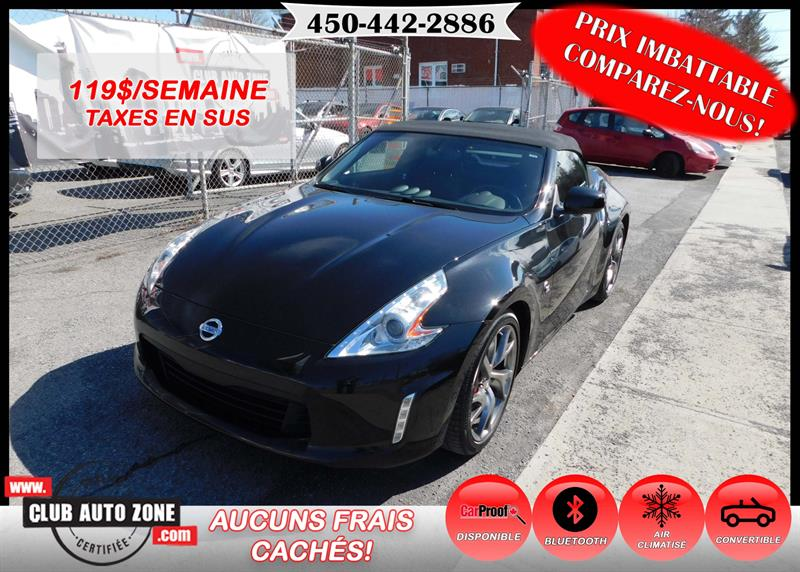 Nissan 370Z 2013 ROADSTER TOURING TOP CONVERTIBLE BLUETOOTH #DM790469