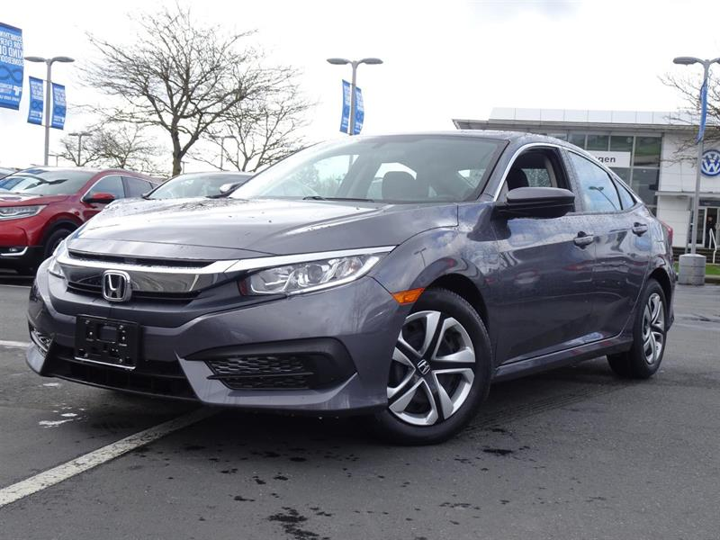 2016 Honda Civic Sedan LX CVT. Honda Certified Extended Warranty to #LH8692