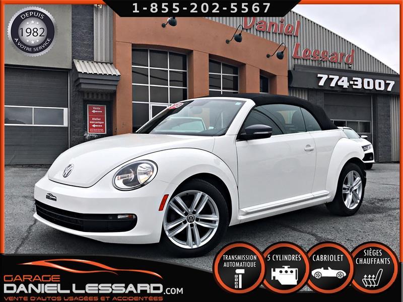 Volkswagen Beetle Convertible 2013 2 PORTES CONVERTIBLE, 2.5 L V5, CUIR, AUTOMATIQUE #39206