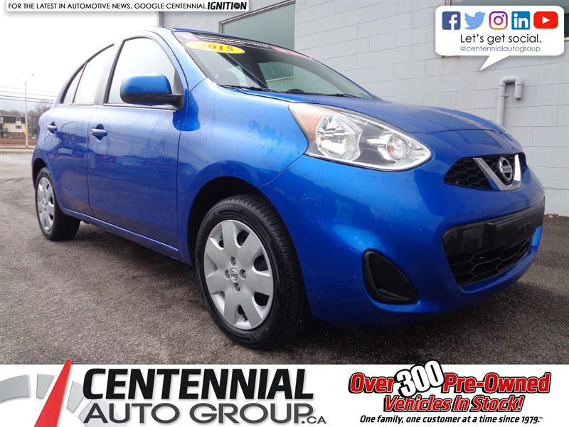 2015 Nissan Micra SV | FWD | Bluetooth | A/C | Low KMs! #P19-050