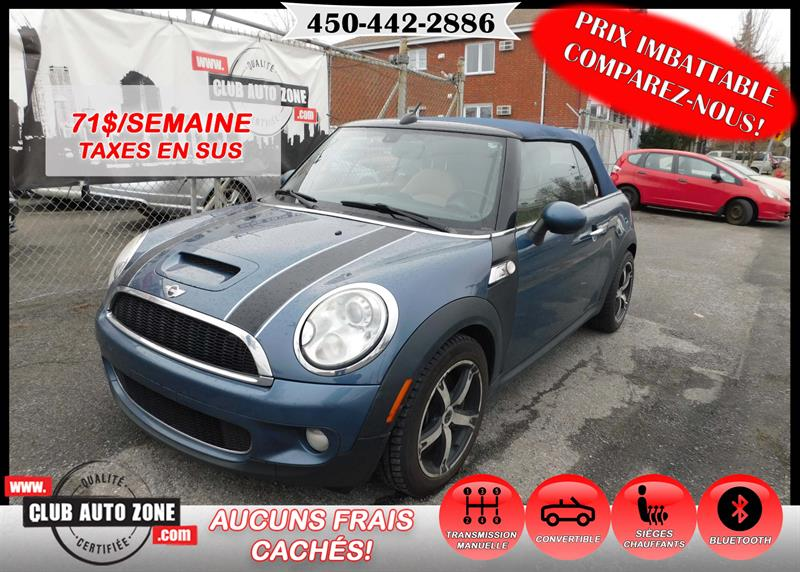 Mini Cooper Convertible 2010 S MANUELLE BLUETOOTH  #ATY51417