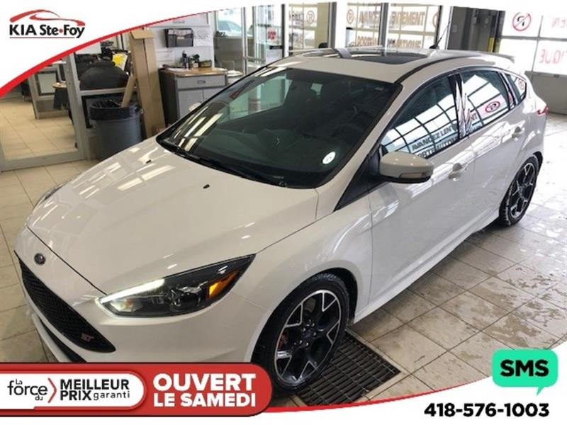 Ford FOCUS 2018 ST * 2.0L TURBO * CUIR * TOIT OUVRANT * MAG #U2248A