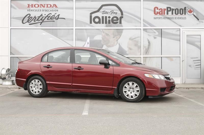 Honda Civic 2009 DX ***JAMAIS ACCIDENTE*** #190361B