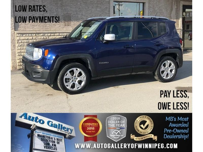 2018 Jeep Renegade Limited *4X4/Navi/Bluetooth/Lthr/Roof #23889