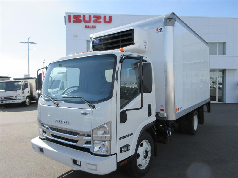 2019 Isuzu NRR 19,500 GVW with 14Ft Collins 50X Reefer Van #19152 READY MID JULY