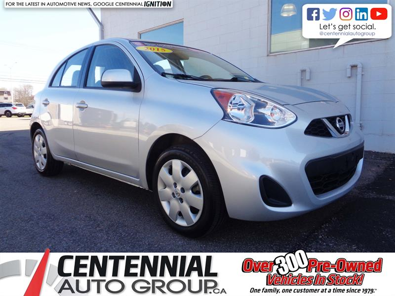 2015 Nissan Micra SV | FWD | Bluetooth | A/C | Very Low KMs! #P19-028