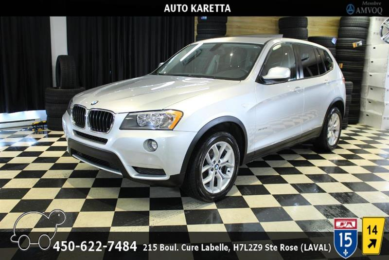 BMW X3 2013 28I XDRIVE/AWD, PANORAMIC, CUIR, BLUETOOTH, MAGS #AS9070A