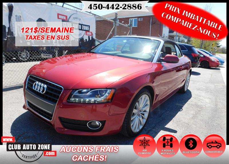 Audi A5 2010 CABRIOLET PREMIUM AUTOMATIQUE AWD BLUETOOTH #AN015984