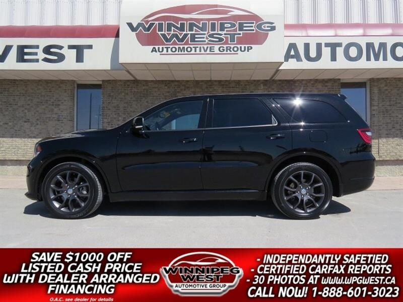 2018 Dodge Durango R/T HEMI V8 4X4 7 PASS, LOADED BLK BEAUTY #GNW5024