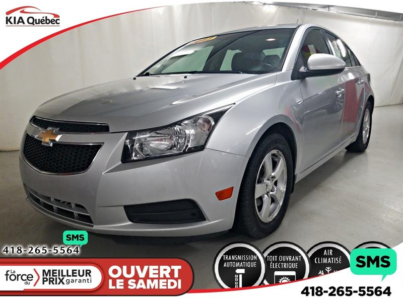 Chevrolet Cruze 2012 LT* TURBO* TOIT* A/C* MAGS* ON STAR* #QU10644