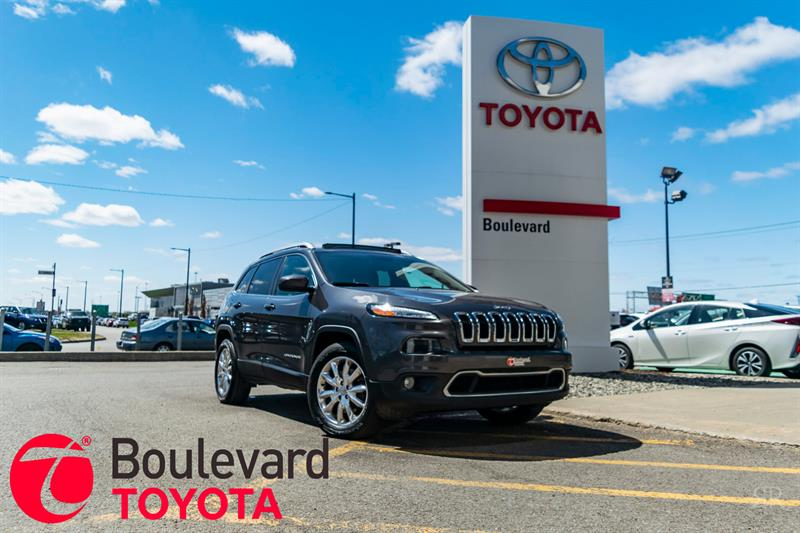 2016 Jeep Cherokee * LIMITED AWD/ CUIR +TOIT PANORAMIQUE + NAV * #81958B