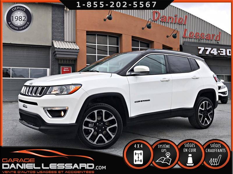 Jeep Compass 2017 LIMITED, CUIR, GPS, CAM  RECUL, A VOIR #78461