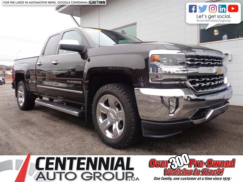 2018 Chevrolet Silverado 1500 LTZ | 4x4 | Double Cab | Leather | Tonneau Cover #P19-069