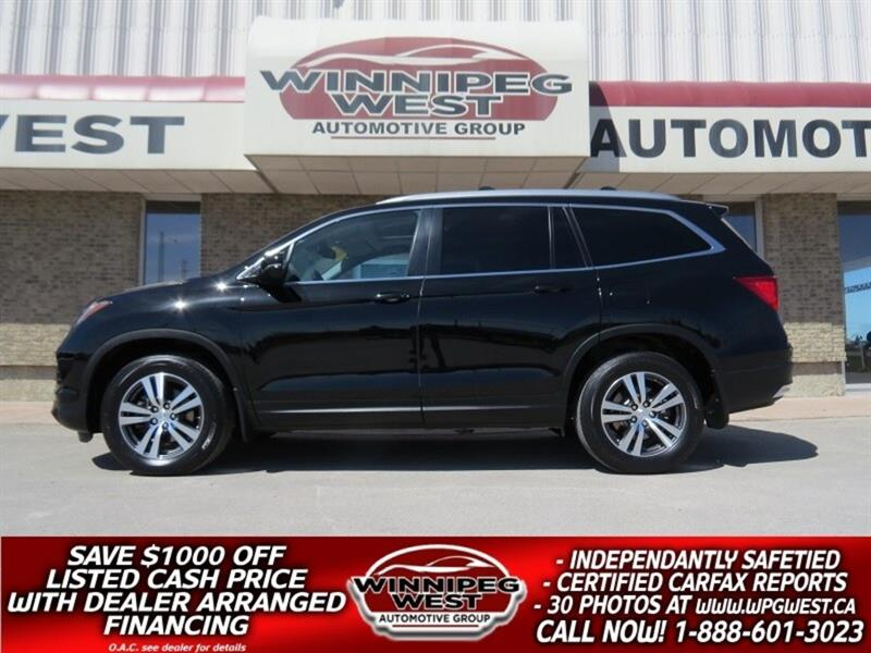 2016 Honda Pilot EX-L RES , 8 PASS, DVD, ROOF, LEATH, LOCAL MB SUV #GIW5059