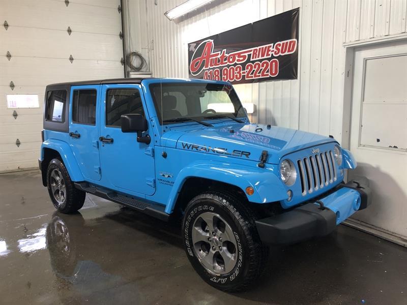 Jeep Wrangler Unlimited 2017 Sahara 4X4 FULL ÉQUIPÉ SEULEMENT 49 200KM #STEPH3917
