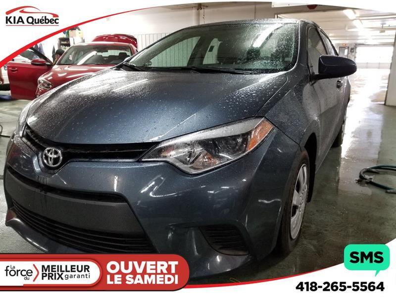 Toyota Corolla 2016 CE* AUTOMATIQUE* A/C* BLUETOOTH* #QU10746