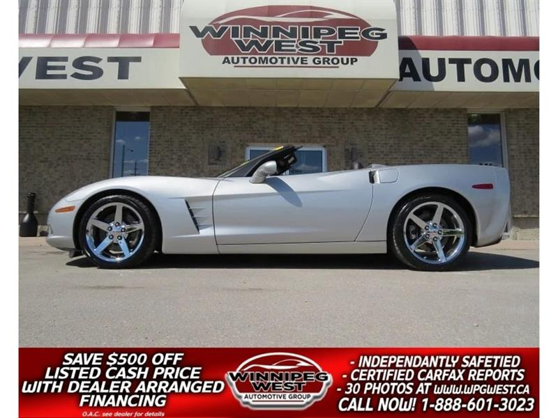 2005 Chevrolet Corvette 3LT Z51 CONVERTIBLE, 6-SPEED, FLAWLESS! #W4101