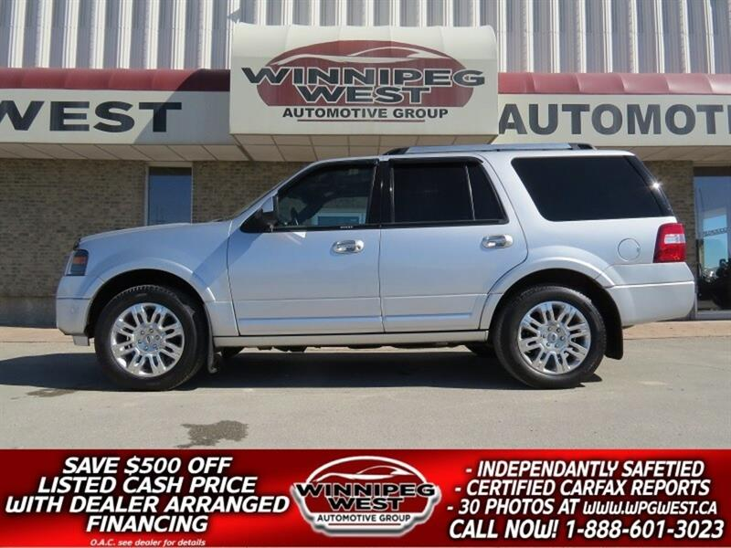 2011 Ford Expedition LIMITED 7 PASS, DVD, ROOF, HTD LEATH, IMMACULATE #GNW5009