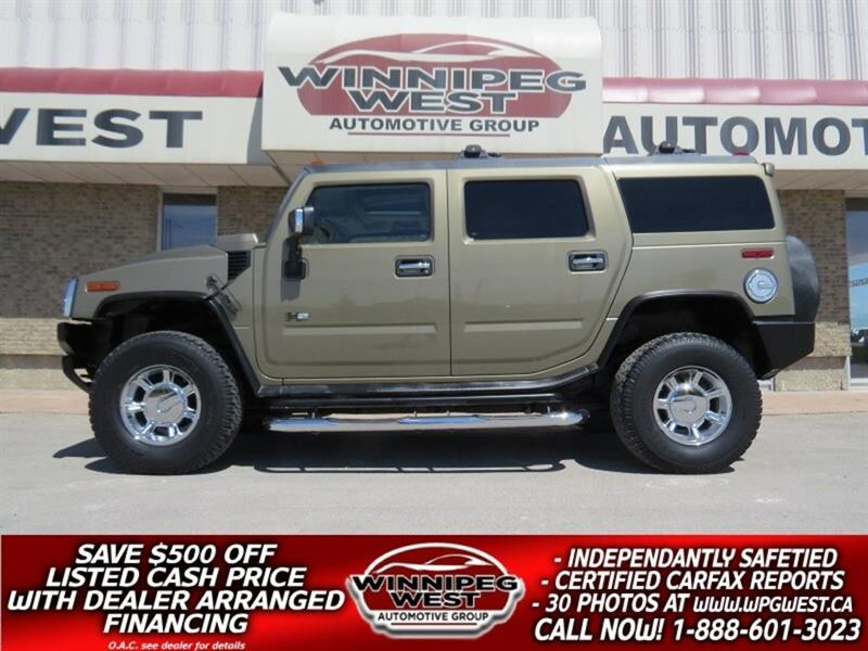 2005 Hummer H2 PREMIUM WITH NAV, ROOF, HTD LEATH, LOW KMS & CLEAN #GNW5054