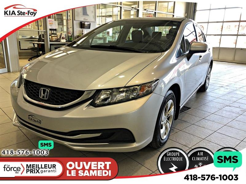 Honda Civic 2014 LX *BLUETOOTH *SIEGES CHAUFFANTS *A/C *CRUISE #U2370