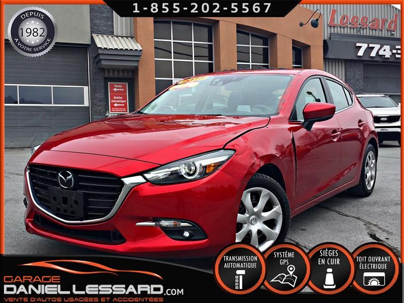Mazda Mazda3 Sport 2018 GT SPORT * PAS VGA *, CUIR, TOIT, GPS, XM RADIO #89285