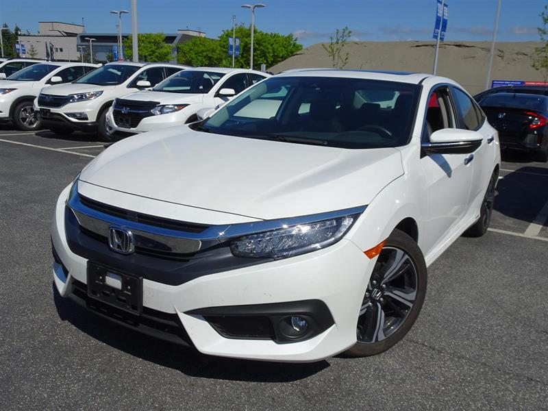 2017 Honda Civic Sedan Touring CVT. Honda Certified Extended Warran #LH8723