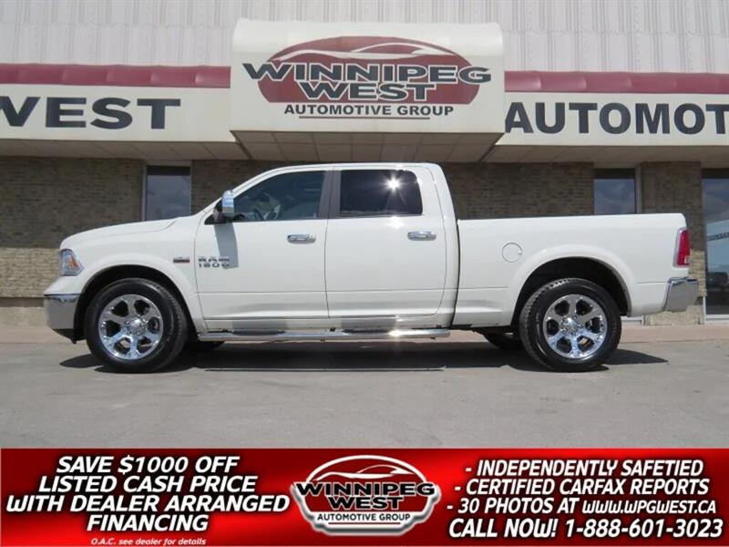 2018 Ram 1500 LARAMIE CREW 4X4, FULLY LOADED, LOW KM, LIKE NEW! #GW5026