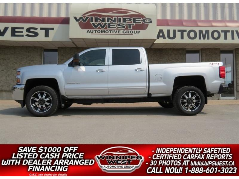 2017 Chevrolet Silverado 2500HD LT CREW 6.0L V8 4X4, APPLE AUTO AND MORE, LOW KMS #GW5032