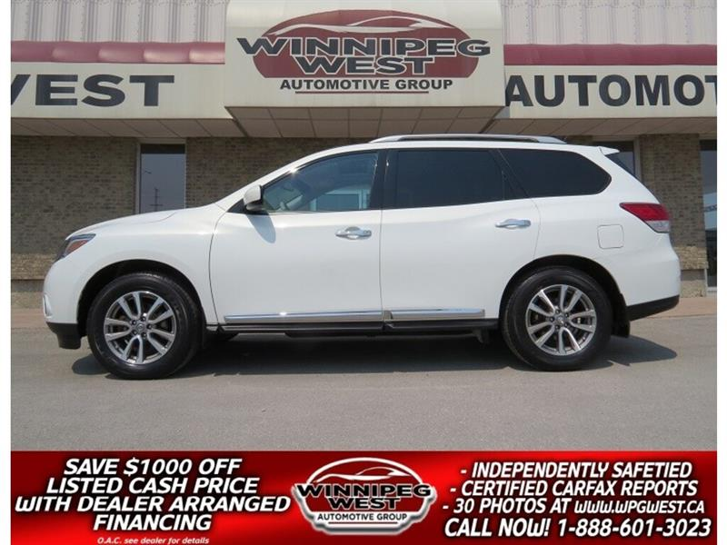 2014 Nissan Pathfinder SL AWD 7 PASS, PAN ROOF, HTD LEATHER, SHARP! #GIW5067
