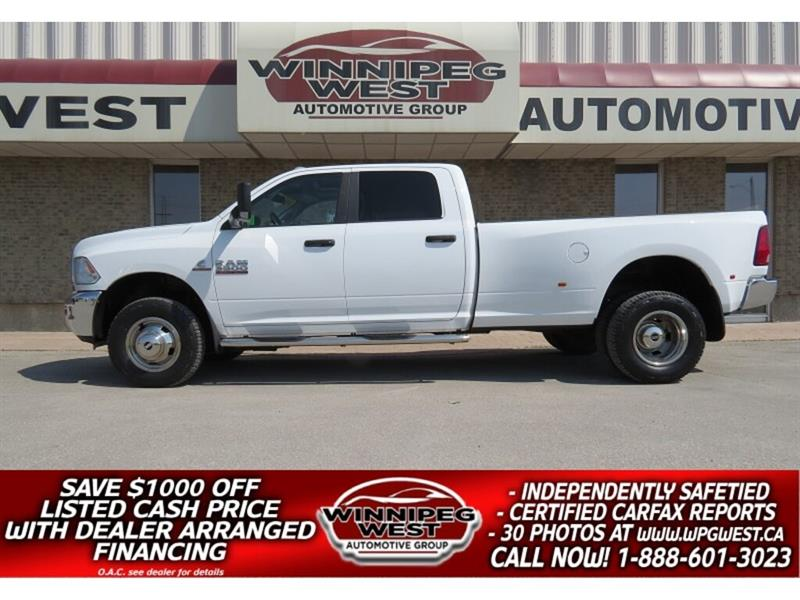 2015 Ram 3500 SLT+  6.7L CUMMINS  DUALLY 4X4, SUNROOF, HTD SEATS #DW5003