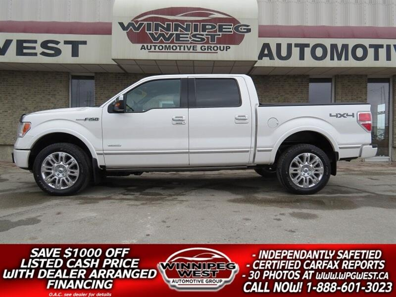 2012 Ford F-150 PLATINUM EDITION 4X4, ROOF, LEATHER, MINT!! #GW4994