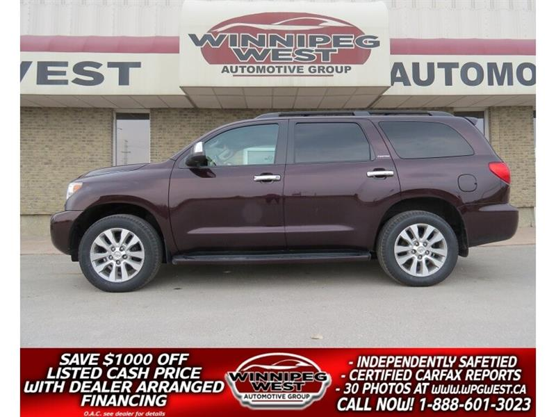 2012 Toyota Sequoia LIMITED 5.7L V8 4X4, 8 PASS, LOADED - ALL OPTIONS! #GIW4951