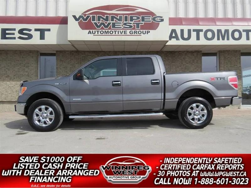 2013 Ford F-150 XTR EDITION CREW ECOBOOST 4X4, LOCAL, LOW KMS! #GW5017