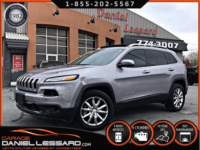 Jeep Cherokee 2018 LIMITED 4X4 3.2 L V6, CUIR, TOIT PANO, GPS, FULL ! #89309