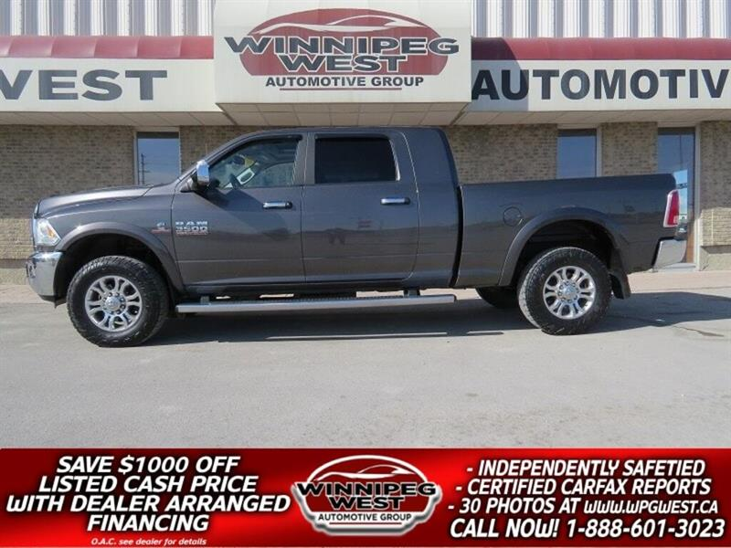 2014 Dodge Ram 3500 LARAMIE MEGA CAB CUMMINS 4X4, LOADED, CLEAN, SHARP #DW5020A