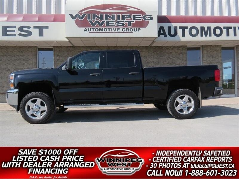 2015 Chevrolet Silverado 2500HD LT2 DURAMAX DIESEL CREW 4X4, HEATED SEATS & MORE #DWL4911