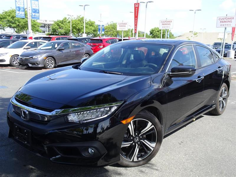 2017 Honda Civic Sedan Touring CVT! Honda Certified Extended Warran #LH8797