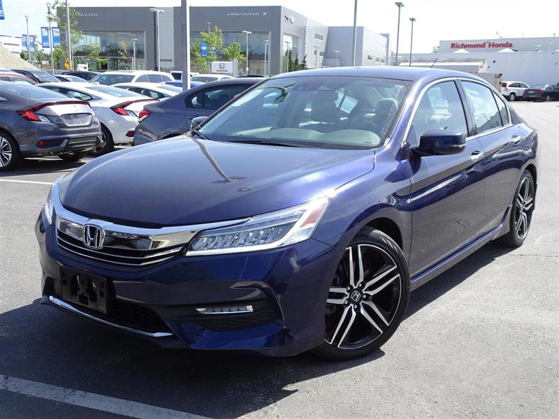 2017 Honda Accord Sedan V6 Touring 6AT. Honda Certified Extended War #B12429