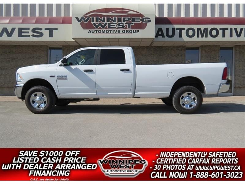 2018 Ram 3500 SLT CREW 4X4, HD GVW, 8 FT BOX, STILL AS NEW!! #GW4902
