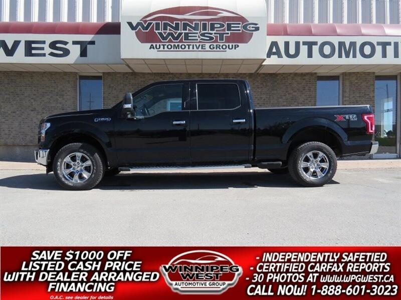 2017 Ford F-150 XTR CREW 5.0L V8 4X4, LOADED, SHARP 1 OWNER, CLEAN #GW4961