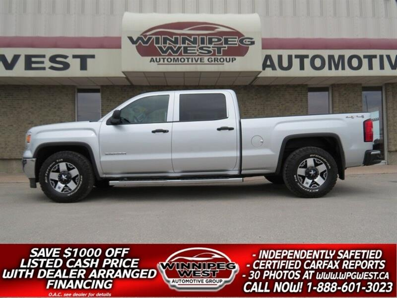 2015 GMC Sierra 1500 CREW 5.3L V8 4X4, CLEAN 1-OWNER *$189 BI-WEEKLY* #GW5091