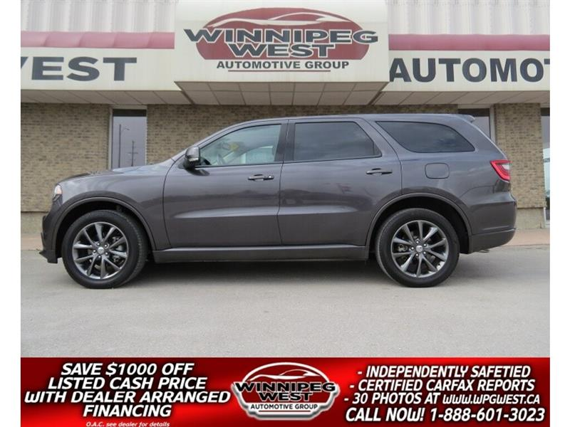 2018 Dodge Durango GT 7 PASS AWD, LEATHER, ROOF, NEW GEN SYSTEMS! #GNW5115