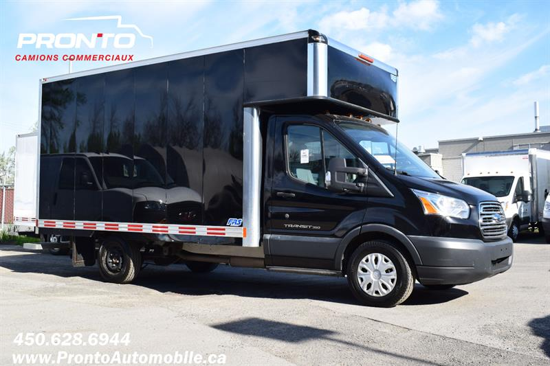 Ford Transit Cutaway 2015 T-350 ** DIESEL **CUBE 13 PIEDS**DECK/EXTENSION** #1884