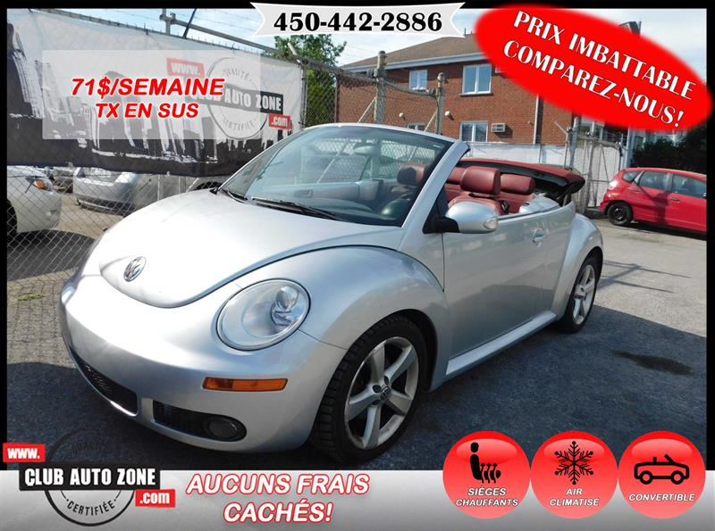 Volkswagen New Beetle Convertible 2009 DÉCAPOTABLE AUTOMATIQUE AIR CLIMATISÉ #9M410438
