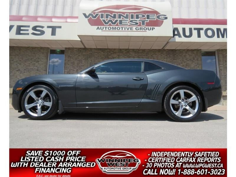2012 Chevrolet Camaro RS 323HP AUTO, 20'S, GRAPHICS, SHARP & LOW KMS #W5057