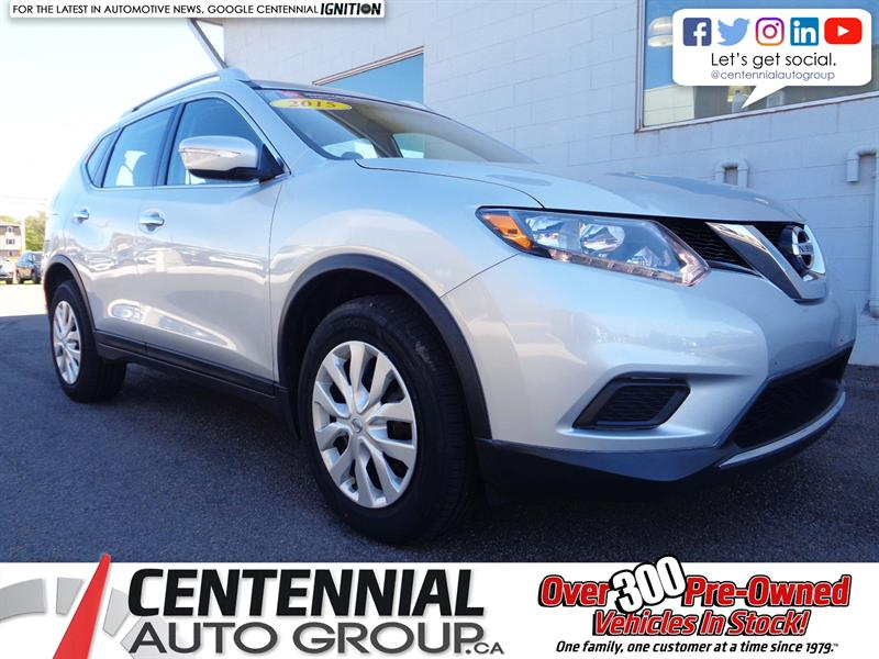 2015 Nissan Rogue S | FWD | Bluetooth | Backup Cam | Sat. Radio #P19-086