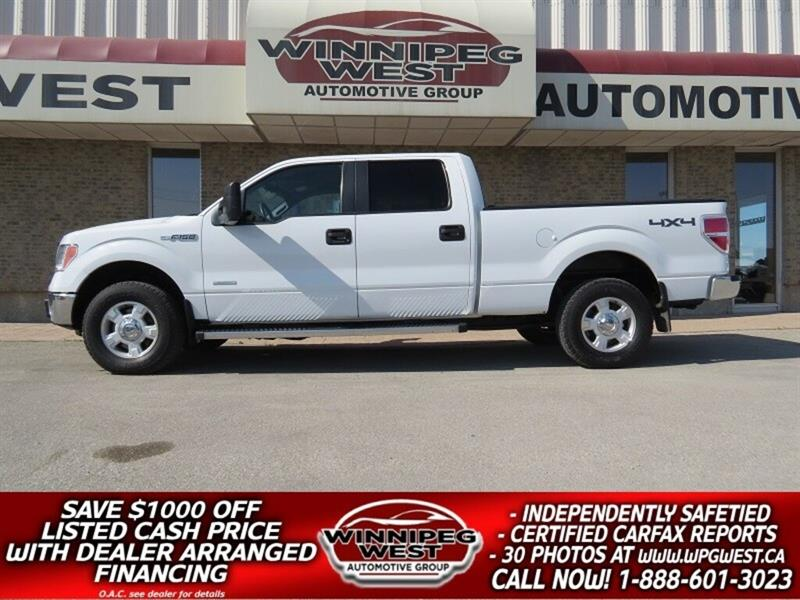 2013 Ford F-150 XLT CREW 3.5L ECOBOOST 4X4, SYNC, ACCIDENT-FREE! #GW5064