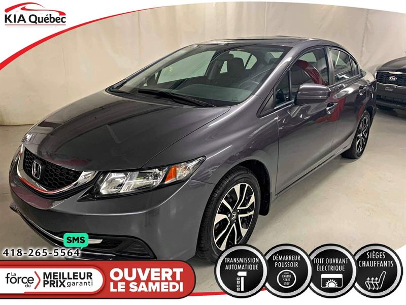 Honda Civic 2014 EX** CAMERA* TOIT * SIEGES CHAUFFANTS* #QU10792