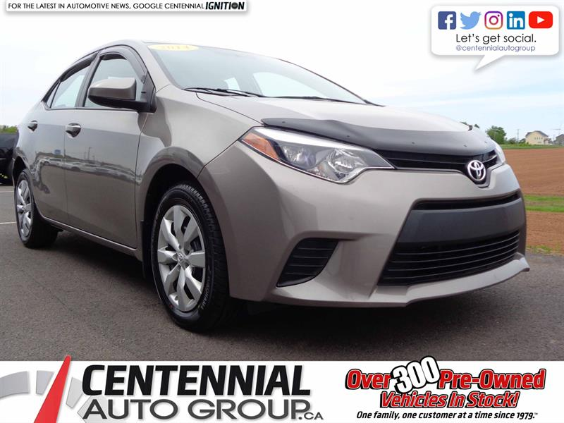 2014 Toyota Corolla LE | Local Trade | One Owner #S19-118A