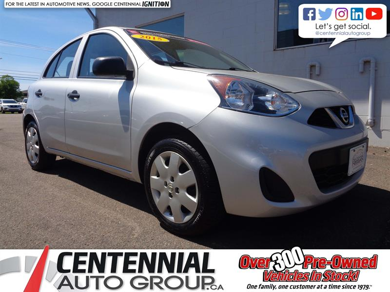 2015 Nissan Micra S | 5-Speed Manual Tranmission | Low Payments! #19-159A